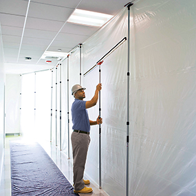 ZipWall-Dust-Barrier-FoamRail-Tight-Seal-Dust-Containment-Protection-for-Commercial-Residential-Remodeling-Renovation-Restoration-Remediation-Abatement