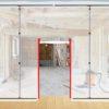 ZipWall 12 dust barrier poles Heavy-Duty Zipper in-use residential