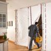 ZipWall ZipFast Reusable Barrier Panels in-use residential
